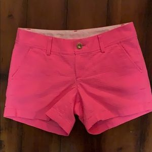 Lilly Pulitzer hot pink Callahan shorts